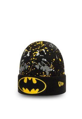"Gorro invierno niños NEW ERA ""Batman Paint"" black yellow"