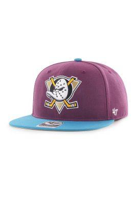 "Gorra plana 47 BRAND ""Mighty Ducks"" purple blue"