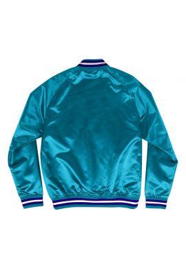 "Chaqueta NBA Mitchell & Ness ""Lightweight Charlotte Hornets satin jacket""teal"