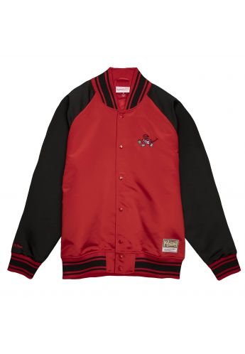 Chaqueta beisbolera Mitchell & Ness Colossal Toronto Raptors red