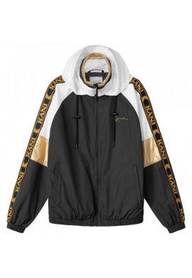 Track jacket chica Karl Kani chest Signature Block black white gold