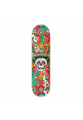 Tabla skate Hydroponic Mexican Skull Red
