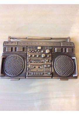 "CINTURÓN HEBILLA ""Boombox Ghetto Blaster"" Famous Stars and straps"