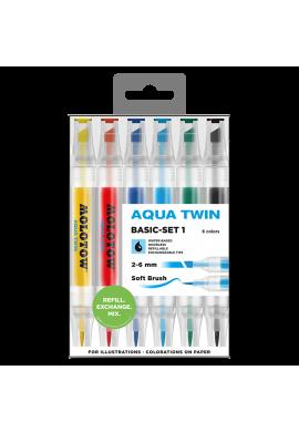 "SET Rotuladores MOLOTOW ""Aqua Twin"" Basic Set 1"