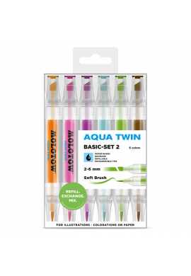 "SET Rotuladores MOLOTOW ""Aqua Twin"" Basic Set 2"