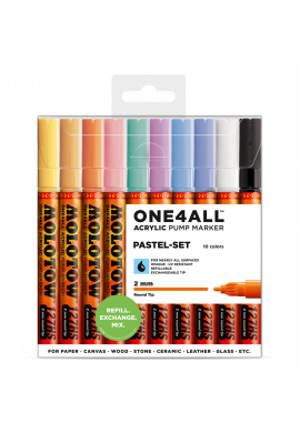 "SET Rotuladores MOLOTOW ""One4All Basic"" Pastel Set"