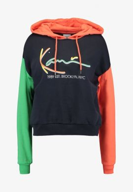 "Sudadera chica KARL KANI ""Signature Block"" orange / green / black"