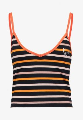 "Top tirantes KARL KANI ""Stripes"" orange / navy / red"