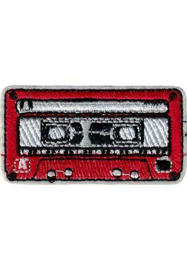 "Parche ropa ""Cassette Red"""