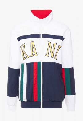 Trackjacket KARL KANI (white / yellow / navy)