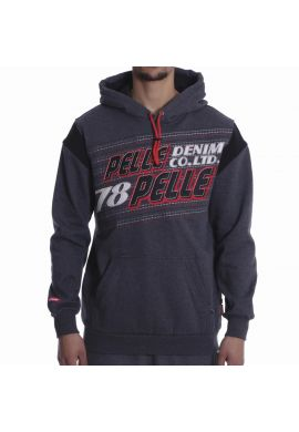 "Sudadera Pelle Pelle ""Upwards"" grey / black / red"