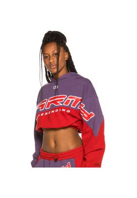 "Sudadera crop chica GRIMEY ""Sighting in Vostok"" purple / red"