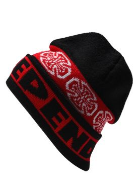 """Gorro invierno INDEPENDENT """"Fold Over"""" black red"""