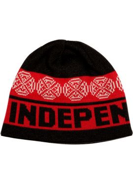 "Gorro invierno INDEPENDENT ""Fold Over"" black red"
