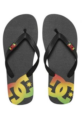 "Chanclas DC Shoes ""Spray"" black / rasta"