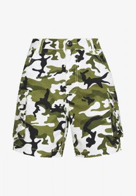 "Shorts chica KARL KANI ""Camo green"" denim"