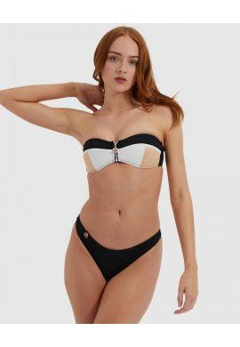 "Top bikini ELLESSE ""Ignazio"" black / cream / white"